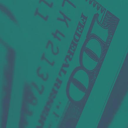 A closeup of the corner of a 100-dollar bill