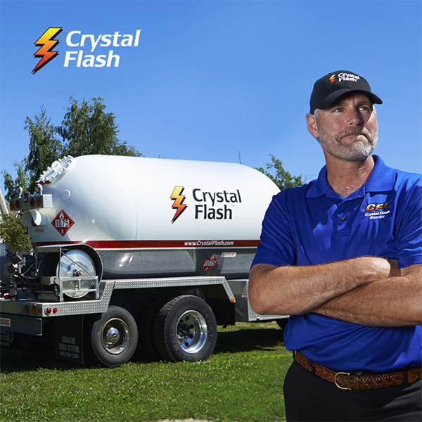 Crystal Flash Employee Standing by Truck