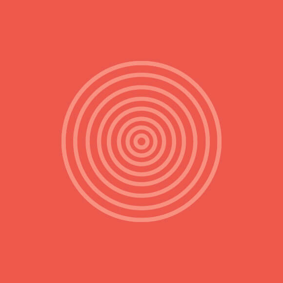 Graphic - red target / ring of circles
