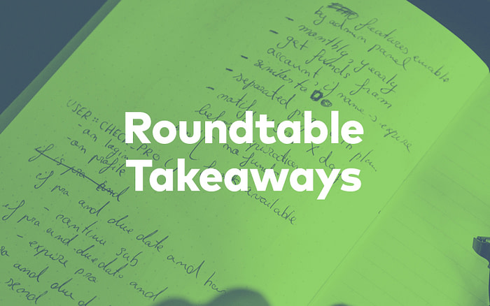 Roundtable Takeaways With Notebook in Background
