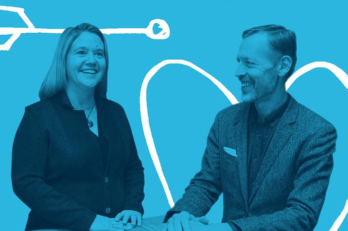 Meredith Bronk, President & CEO and Jim VanderMay, CIO of OST