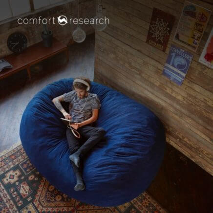 Comfort Research - man sitting comfortably in chair