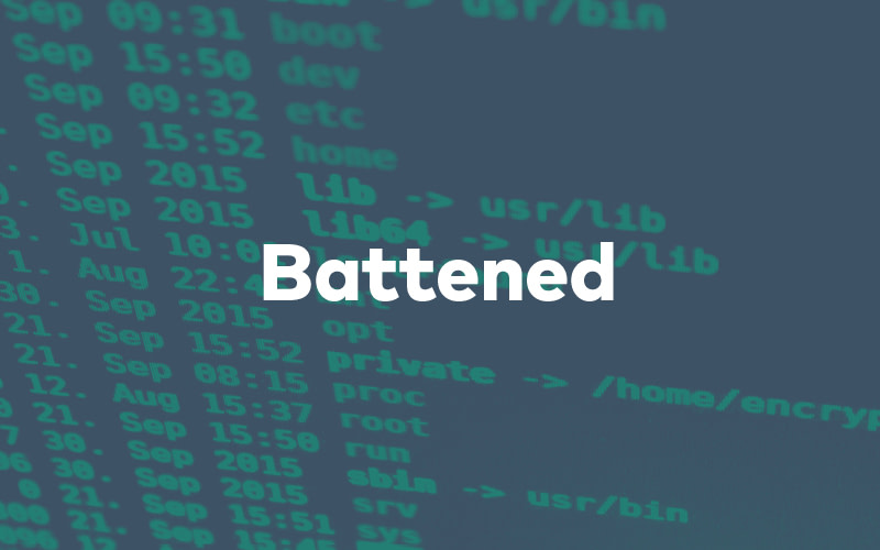 Cyber Attack Coding in the Background and the Word Battened Overlaid