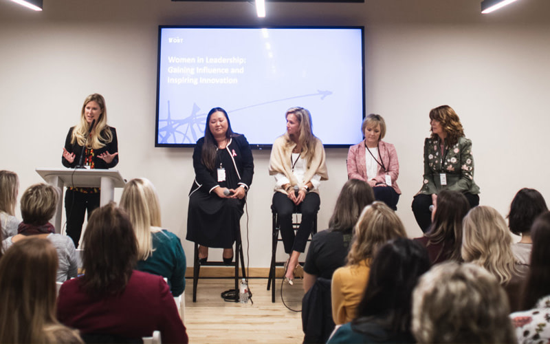 The Panelists at Twin Cities Startup Week Women in Leadership Panel